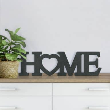 MDF Letters - Home 4 with heart