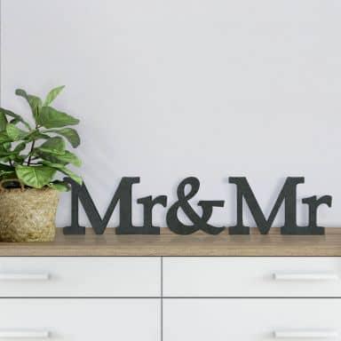 Lettres décoratives en bois MDF - Mr&Mr Sérif