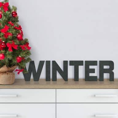 Scritta MDF - Winter