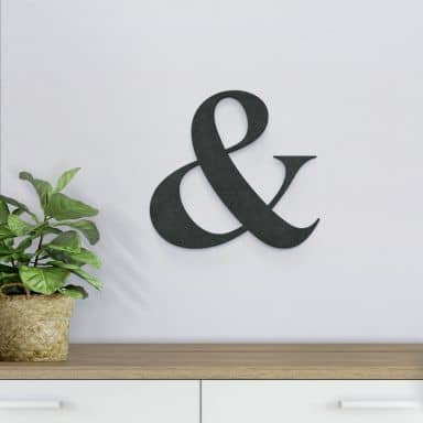 MDF Letters - & sign
