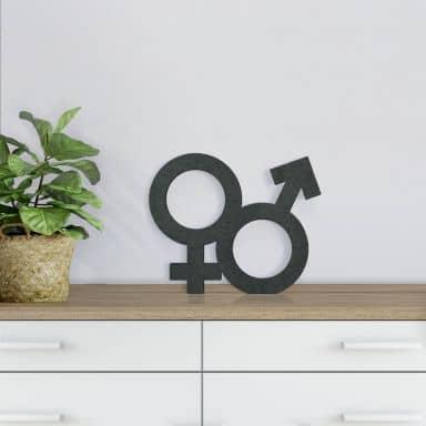 MDF Gender Symbol Hetero