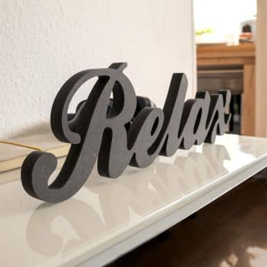 Lettere in legno MDF - Relax