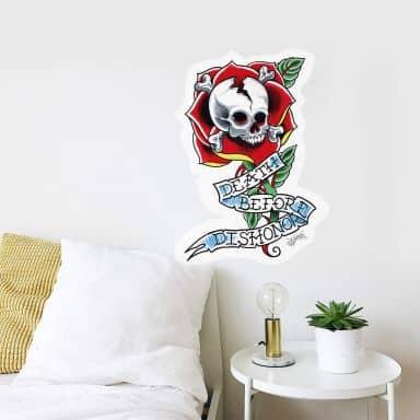 Sticker mural - Miami Ink - Death Before Dishonor