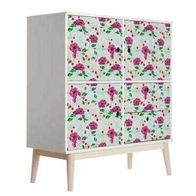 Möbelfolie Blanz - Blütenromantik