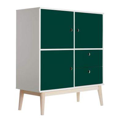 Sticker meuble - Uni verté foncé