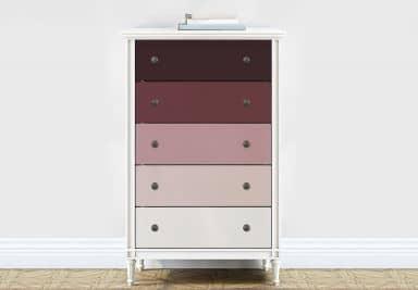 Möbelfolie, Dekofolie - abwischbar - Farbverlauf Bordeaux - 5er Set