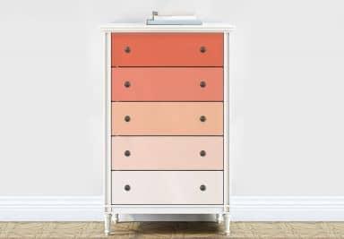 Möbelfolie, Dekofolie - abwischbar - Farbverlauf Orange - 5er Set