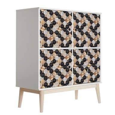 Furniture Wrap - Fredriksson - Gold & Black