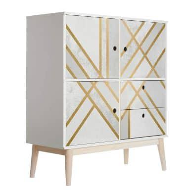 Möbelfolie Fredriksson - Art Deco: Goldene Geometrie