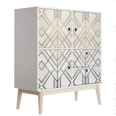 Furniture Wrap Fredriksson - Gold & Silver