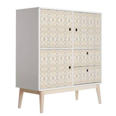 Furniture Wrap - self adhesive - Fredriksson - Golden Geometry