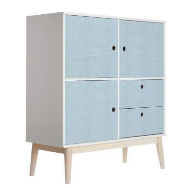 Möbelfolie Fliesen Hellblau