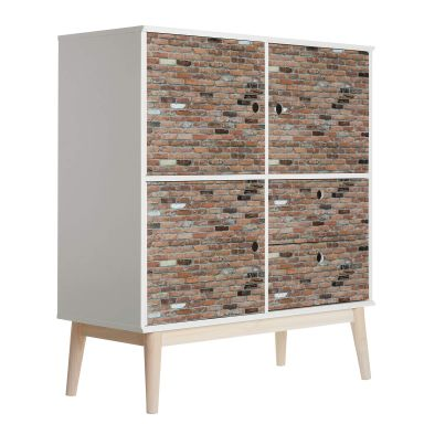 Möbelfolie Rustikale Ziegelsteinmauer