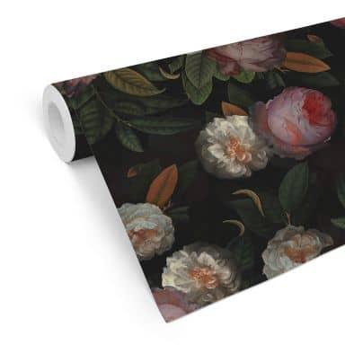 Mustertapete UN Designs - Rosen im Gemäldestil