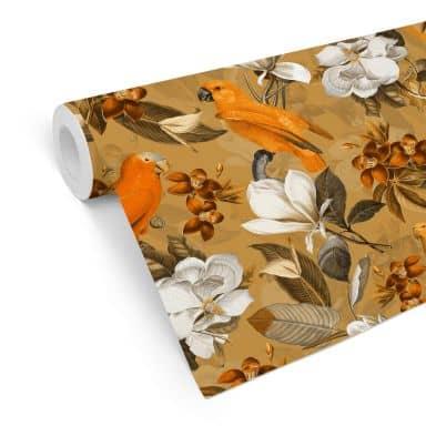 Mustertapete UN Designs - Tropisch Ocker