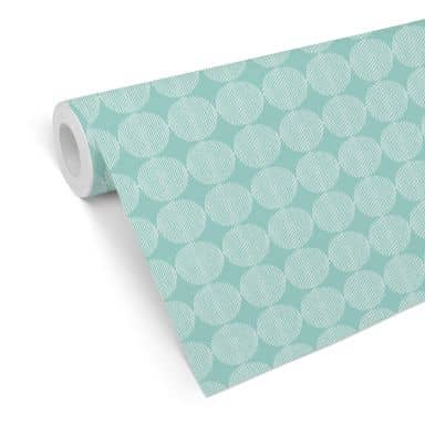 Patterned Wallpaper Abstract Circles 02 – mint