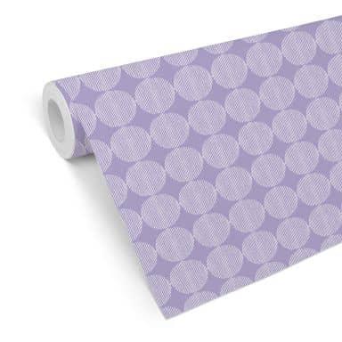 Mustertapete - abstrakte Kreise 02 - violett