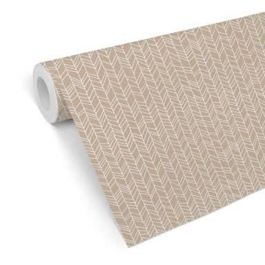 Mustertapete - abstrakte Linien - beige