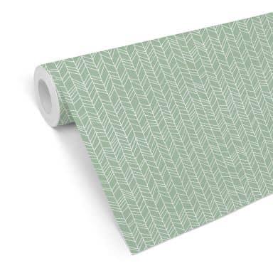 Mustertapete - abstrakte Linien - grün