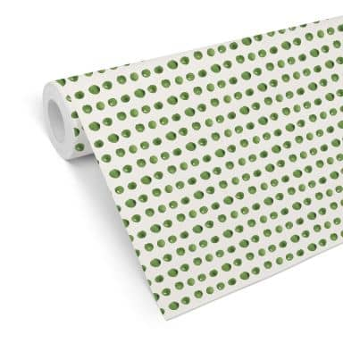 Mustertapete - Aquarell Punkte 01 - grün