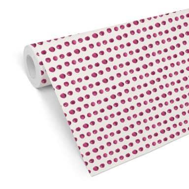 Mustertapete - Aquarell Punkte 01 - pink