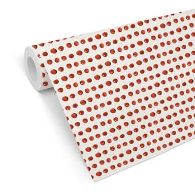 Mustertapete - Aquarell Punkte 01 - rot