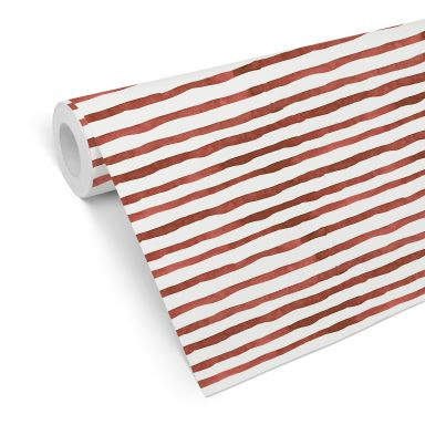 Patterned Wallpaper – Watercolour Lines 01 – red