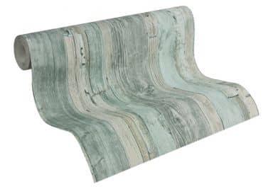 Papier peint A.S. Création Decoworld turquoise pastel, beige, gris trafic