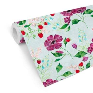 Mustertapete Blanz - Blütenromantik