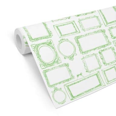 Patterned Wallpaper - Frame Your Life - Green
