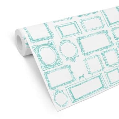Patterned Wallpaper - Frame your Life - mint
