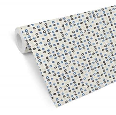 Patterned Wallpaper Circles – blue