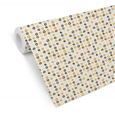 Patterned Wallpaper Curls - yellow