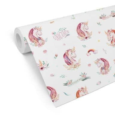 Patterned Wallpaper Kvilis - Unicorns 01