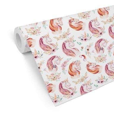 Patterned Wallpaper Kvilis - Unicorn 02