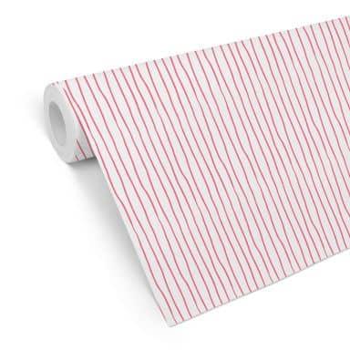 Patroonbehang Stripes - roze