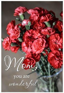 Gift Certificate Mother's Day - Red Carnations