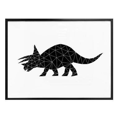 Poster Nouveauprints - Dinosaurus Triceratops geometrisch