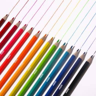 Box with 14 colour pencils - incl. 2 neon pencils