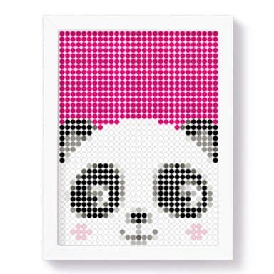 Dot-On DIY Stickerposter - Panda - 30x40 cm