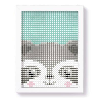 Dot-On DIY Stickerposter - Wasbeer - 30x40 cm