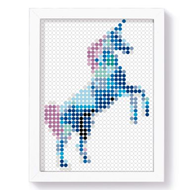 Dot-On DIY Stickerposter - Unicorn - 30x40 cm