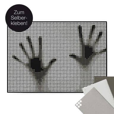 Dot-On DIY Stickerposter - Handen - 50x70 cm