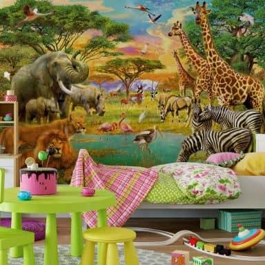 Behang Kinderkamer Jungle.Kinderkamer Wall Art Nl