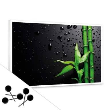 Pinnwand Bamboo over Black inkl. 5 Pinnadeln
