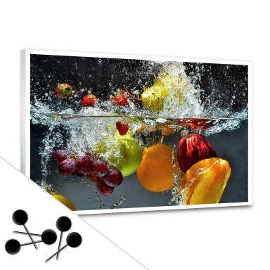 Pinnwand Erfrischendes Obst inkl. 5 Pinnadeln