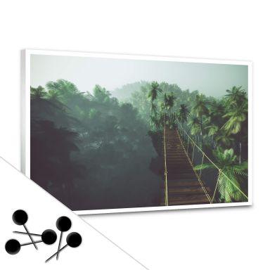 Pinnwand Hängebrücke im Dschungel inkl. 5 Pinnadeln
