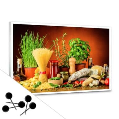 Pinnwand Italienisch Kochen inkl. 5 Pinnadeln