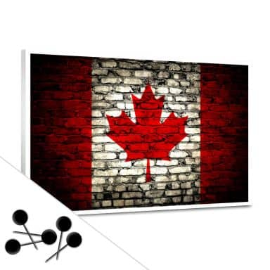 Maple Leaf Flag Wall Bulletin Board