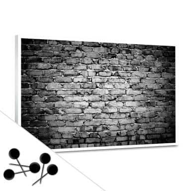 Memoboard Mauer 04 inkl. 5 Pinnadeln